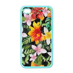 Tropical Flowers Butterflies 1 Apple Iphone 4 Case (color) by EDDArt
