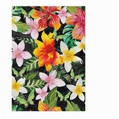 Tropical Flowers Butterflies 1 Large Garden Flag (two Sides) by EDDArt