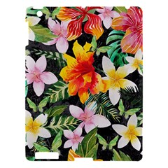 Tropical Flowers Butterflies 1 Apple Ipad 3/4 Hardshell Case by EDDArt