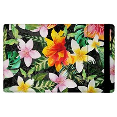 Tropical Flowers Butterflies 1 Apple Ipad 3/4 Flip Case by EDDArt