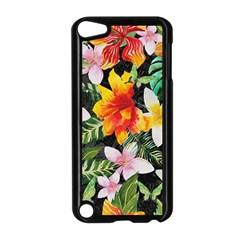 Tropical Flowers Butterflies 1 Apple Ipod Touch 5 Case (black) by EDDArt