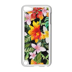 Tropical Flowers Butterflies 1 Apple Ipod Touch 5 Case (white) by EDDArt