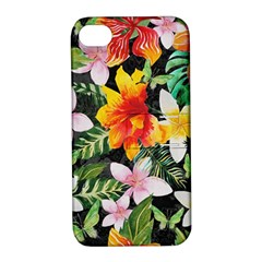 Tropical Flowers Butterflies 1 Apple Iphone 4/4s Hardshell Case With Stand by EDDArt