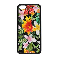 Tropical Flowers Butterflies 1 Apple Iphone 5c Seamless Case (black) by EDDArt