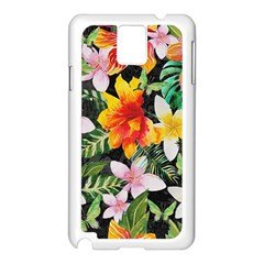 Tropical Flowers Butterflies 1 Samsung Galaxy Note 3 N9005 Case (white) by EDDArt