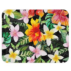 Tropical Flowers Butterflies 1 Double Sided Flano Blanket (medium)  by EDDArt