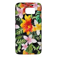 Tropical Flowers Butterflies 1 Samsung Galaxy S6 Hardshell Case  by EDDArt