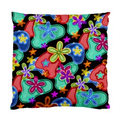 Colorful Retro Flowers Fractalius Pattern 1 Standard Cushion Case (two Sides) by EDDArt