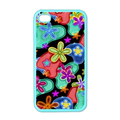 Colorful Retro Flowers Fractalius Pattern 1 Apple Iphone 4 Case (color) by EDDArt