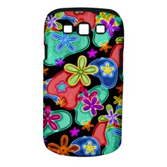Colorful Retro Flowers Fractalius Pattern 1 Samsung Galaxy S Iii Classic Hardshell Case (pc+silicone) by EDDArt