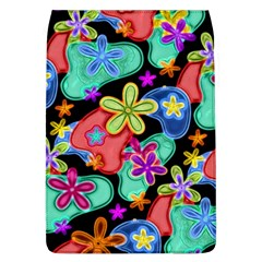 Colorful Retro Flowers Fractalius Pattern 1 Flap Covers (l)  by EDDArt