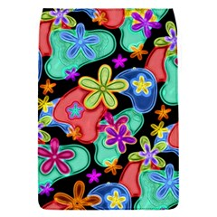 Colorful Retro Flowers Fractalius Pattern 1 Flap Covers (s)  by EDDArt