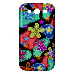 Colorful Retro Flowers Fractalius Pattern 1 Samsung Galaxy Mega 5 8 I9152 Hardshell Case  by EDDArt