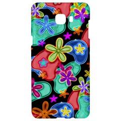 Colorful Retro Flowers Fractalius Pattern 1 Samsung C9 Pro Hardshell Case  by EDDArt
