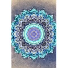 Folk Art Lotus Mandala Blue Turquoise 5 5  X 8 5  Notebooks by EDDArt