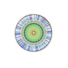 Power Mandala Sun Blue Green Yellow Lilac Hat Clip Ball Marker (10 Pack) by EDDArt