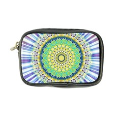 Power Mandala Sun Blue Green Yellow Lilac Coin Purse by EDDArt