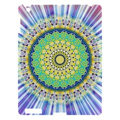 Power Mandala Sun Blue Green Yellow Lilac Apple Ipad 3/4 Hardshell Case by EDDArt