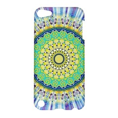 Power Mandala Sun Blue Green Yellow Lilac Apple Ipod Touch 5 Hardshell Case by EDDArt