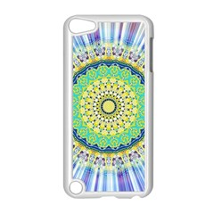 Power Mandala Sun Blue Green Yellow Lilac Apple Ipod Touch 5 Case (white) by EDDArt
