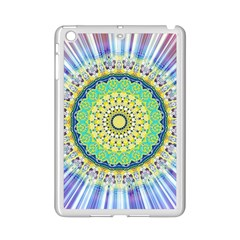 Power Mandala Sun Blue Green Yellow Lilac Ipad Mini 2 Enamel Coated Cases by EDDArt