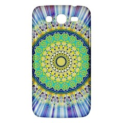Power Mandala Sun Blue Green Yellow Lilac Samsung Galaxy Mega 5 8 I9152 Hardshell Case  by EDDArt