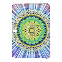 Power Mandala Sun Blue Green Yellow Lilac Samsung Galaxy Tab Pro 10 1 Hardshell Case by EDDArt