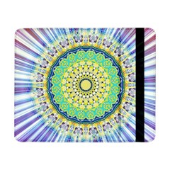 Power Mandala Sun Blue Green Yellow Lilac Samsung Galaxy Tab Pro 8 4  Flip Case by EDDArt