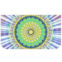 Power Mandala Sun Blue Green Yellow Lilac Lunch Bag by EDDArt