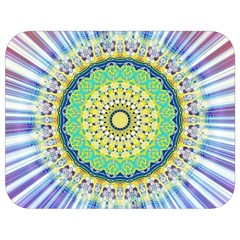 Power Mandala Sun Blue Green Yellow Lilac Full Print Lunch Bag by EDDArt