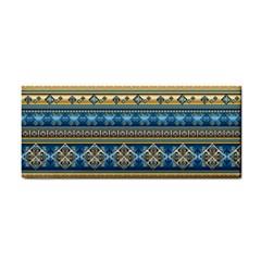 Vintage Border Wallpaper Pattern Blue Gold Hand Towel