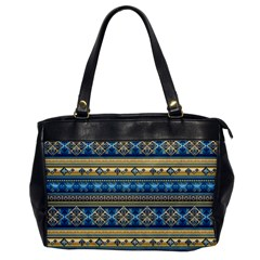 Vintage Border Wallpaper Pattern Blue Gold Office Handbags