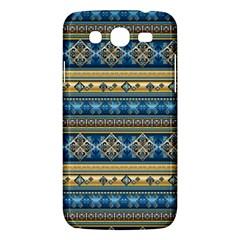 Vintage Border Wallpaper Pattern Blue Gold Samsung Galaxy Mega 5 8 I9152 Hardshell Case  by EDDArt