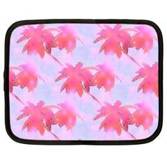 Palm Trees Paradise Pink Pastel Netbook Case (xl)