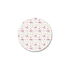 Watercolor Birds Magnolia Spring Pattern Golf Ball Marker (4 Pack)