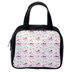 Watercolor Birds Magnolia Spring Pattern Classic Handbags (one Side) by EDDArt