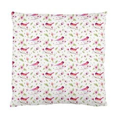 Watercolor Birds Magnolia Spring Pattern Standard Cushion Case (one Side) by EDDArt