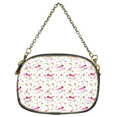 Watercolor Birds Magnolia Spring Pattern Chain Purses (two Sides)  by EDDArt