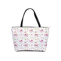 Watercolor Birds Magnolia Spring Pattern Shoulder Handbags by EDDArt