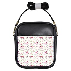 Watercolor Birds Magnolia Spring Pattern Girls Sling Bags by EDDArt