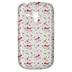 Watercolor Birds Magnolia Spring Pattern Samsung Galaxy S3 Mini I8190 Hardshell Case by EDDArt