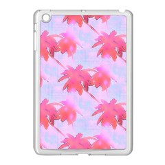 Palm Trees Paradise Pink Pastel Apple Ipad Mini Case (white) by CrypticFragmentsColors
