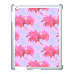 Palm Trees Paradise Pink Pastel Apple Ipad 3/4 Case (white) by CrypticFragmentsColors