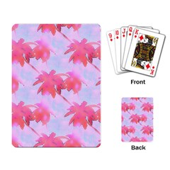 Palm Trees Paradise Pink Pastel Playing Card