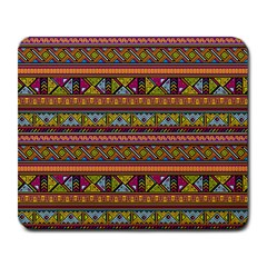 Traditional Africa Border Wallpaper Pattern Colored 2 Large Mousepads