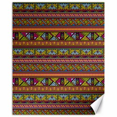 Traditional Africa Border Wallpaper Pattern Colored 2 Canvas 16  X 20   by EDDArt