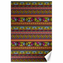 Traditional Africa Border Wallpaper Pattern Colored 2 Canvas 20  X 30