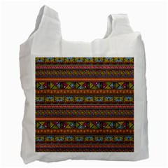 Traditional Africa Border Wallpaper Pattern Colored 2 Recycle Bag (one Side) by EDDArt