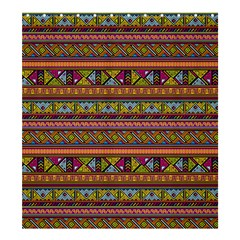Traditional Africa Border Wallpaper Pattern Colored 2 Shower Curtain 66  X 72  (large)  by EDDArt