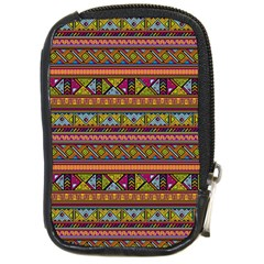 Traditional Africa Border Wallpaper Pattern Colored 2 Compact Camera Cases by EDDArt